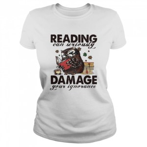 Owl Reading Can Seriously Damage Your Ignorance  Classic Women's T-shirt