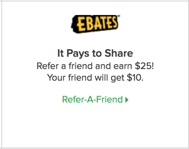 Ebates Referral Incentive