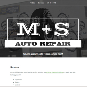 M&S Auto Repair Logo