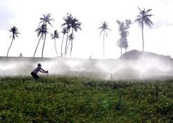 Lý Sơn được lắp đặt hệ thống phun nước mới