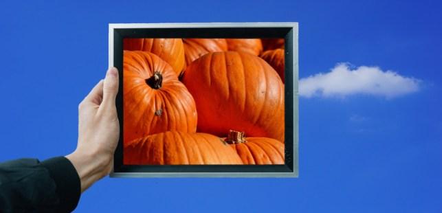 タブレットに写るかぼちゃ