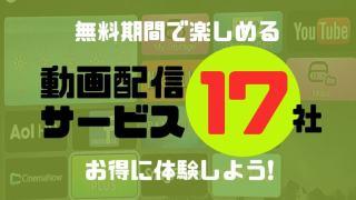 無料期間で楽しめる動画配信サービス17社