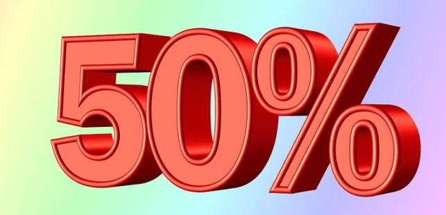 50パーセント
