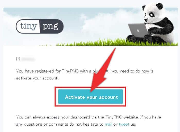 メール内に記載された「Activate your account」をクリック。