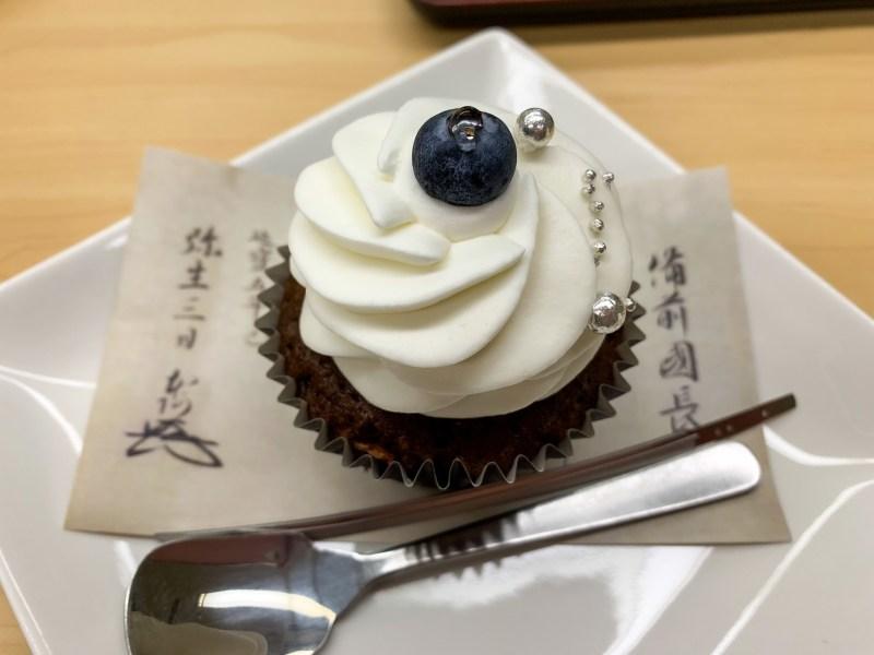 徳川美術館喫茶室 期間限定 創作和菓子鯰尾藤四郎・本作長義カップケーキが綺麗で可愛くて美味しくて最高だった話