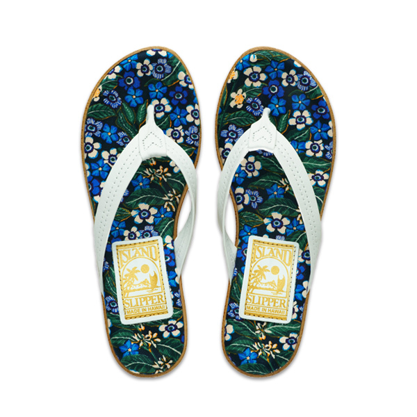 W Liberty Fabric Insole Leather Strap (PLF522)