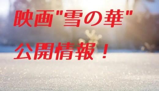 名曲雪の華実写映画化!キャストやあらすじ、ロケ地、公開スケジュールを調査!