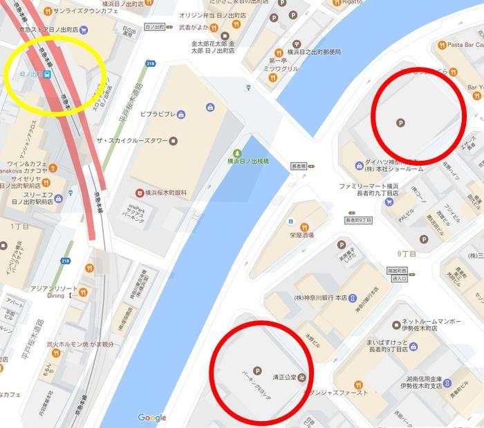 大岡川の桜まつり 駐車場 日の出町
