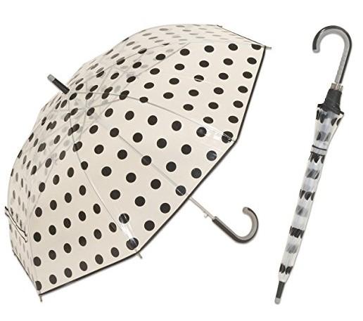かわいいビニール傘 水玉 ドット