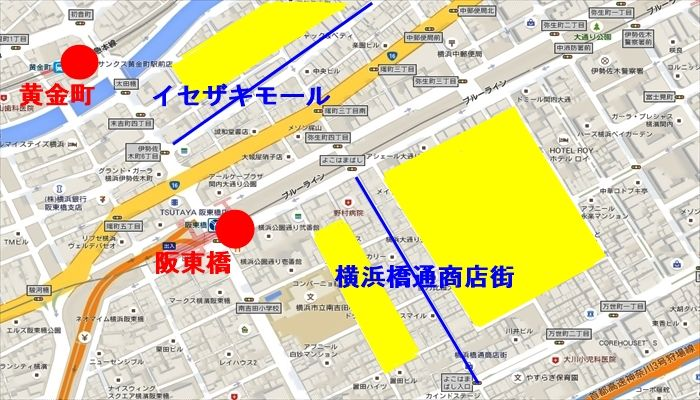 阪東橋・黄金町 外国人が多いエリア