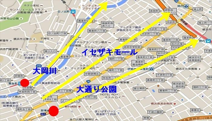 黄金町・阪東橋のメリット 繁華街が近く自然がある
