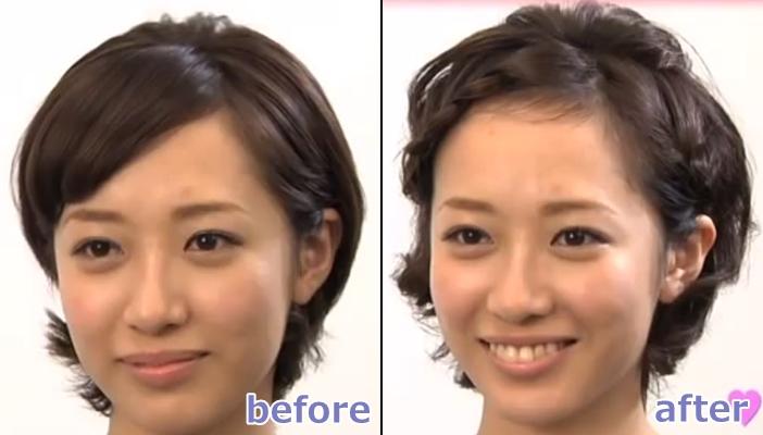浴衣 髪型 ショート ヘアアレンジ9