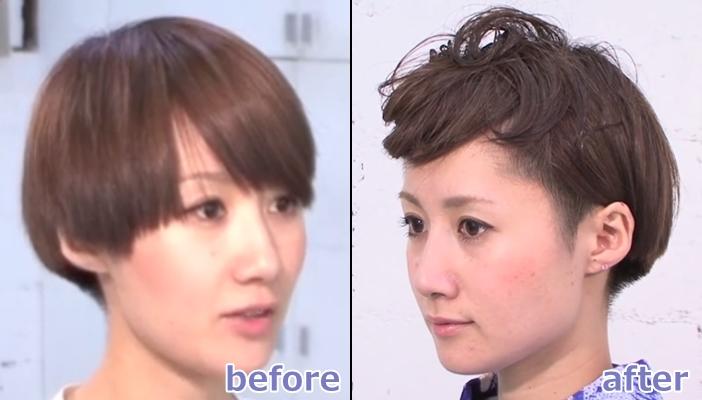 浴衣 髪型 ショート ヘアアレンジ3