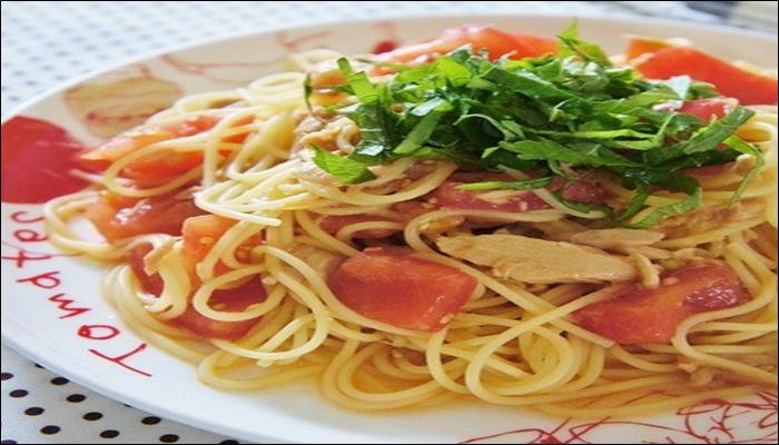 冷製パスタ 人気レシピ トマトとツナの冷製パスタ
