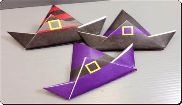ハロウィン 折り紙 帽子2