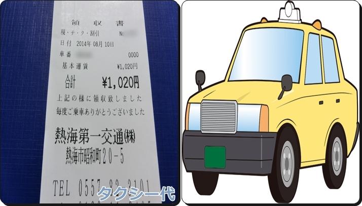 熱海旅行 予算 費用 タクシー代