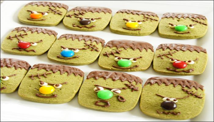 ハロウィン お菓子レシピ フランケン抹茶クッキー