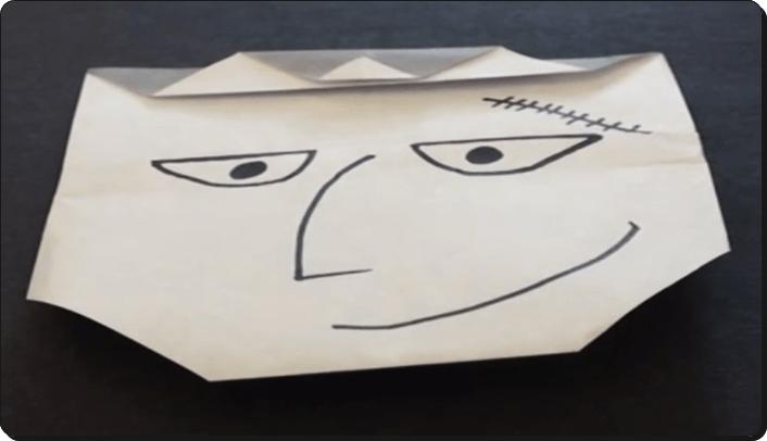 ハロウィン 折り紙 フランケン