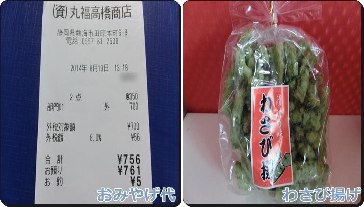 熱海旅行 予算 費用 おみやげ代 お菓子
