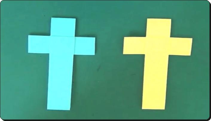 ハロウィン 折り紙 十字架