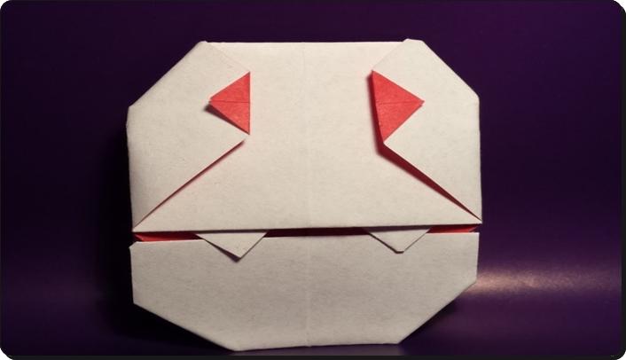 ハロウィン 折り紙 ドラキュラ