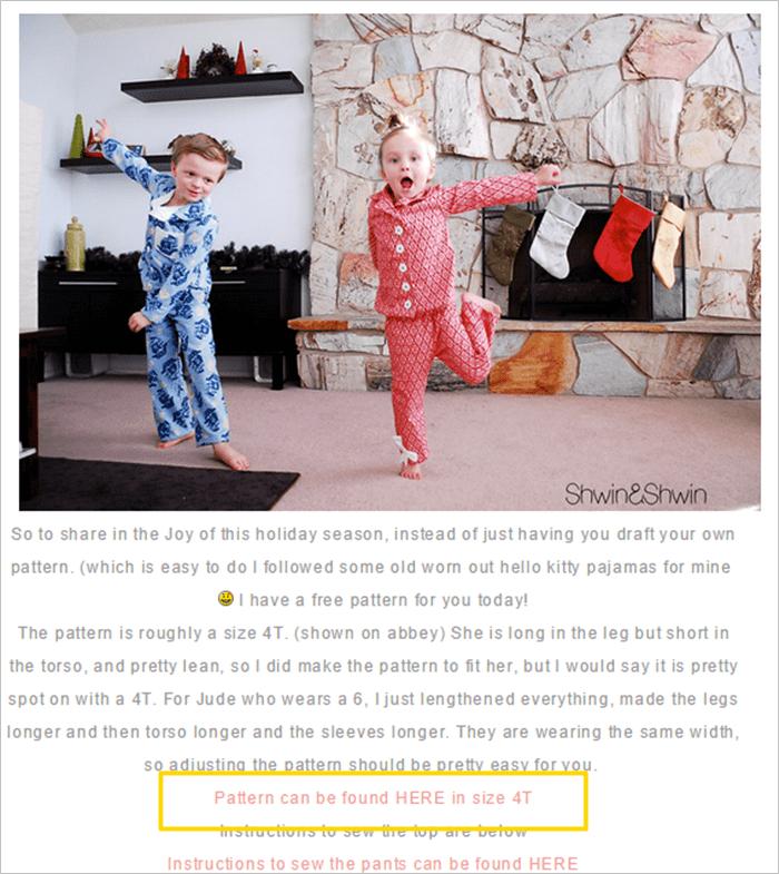 子供 パジャマ 型紙 無料