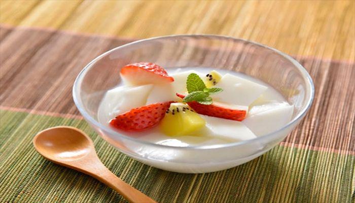 夏といえば 杏仁豆腐