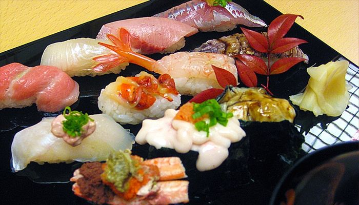 夏といえば 寿司