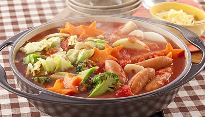 冬 料理 トマト鍋