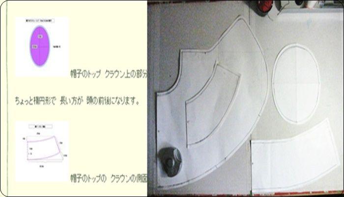 帽子 日よけ 作り方 型紙 4