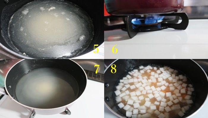 寒天ダイエット 寒天レシピの手順「火加減」
