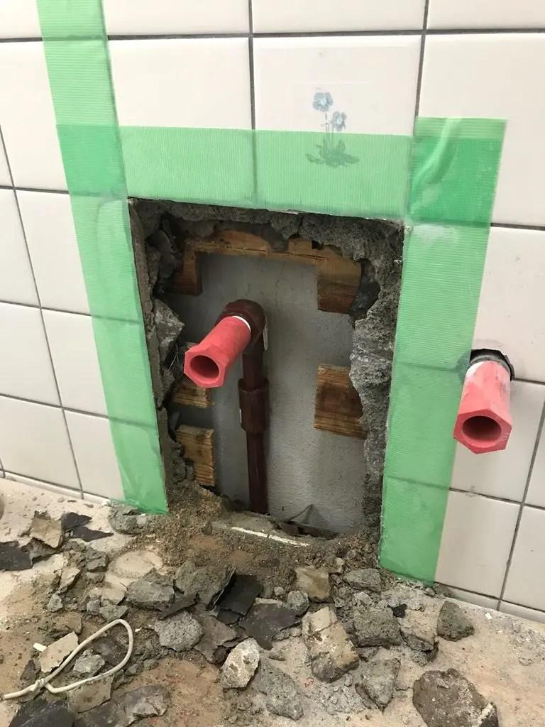 給湯管配管修繕後