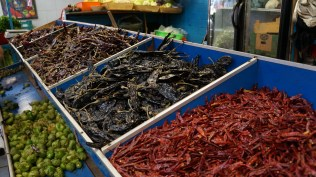 So many dried chilies!