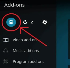 Select the open box icon on the Add-ons screen to get to the Manage Add-ons screen.