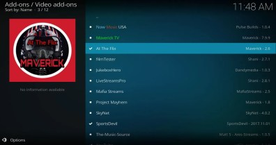 Install At The Flix add-on from Maverick Repo