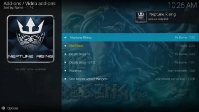 Neptune Rising Add-on Installed