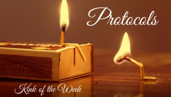 match stick figures kneeling for post about protocols for kink of the week