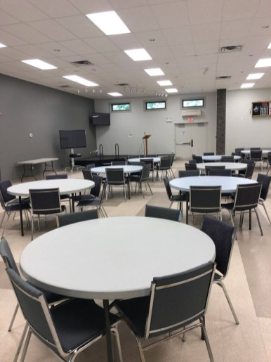 Basic package includes tables and chairs
