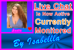Issie Live Chat Blue Rays - Chat Host Profile Banner
