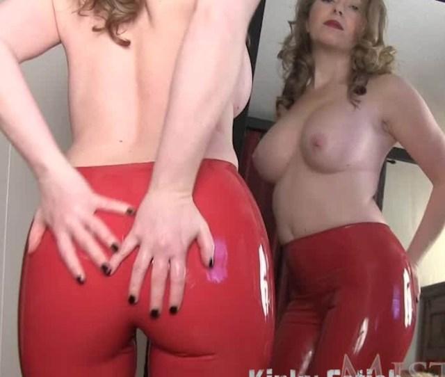 Mistress T Red Latex Pants Make You Weak Mistresst Hd