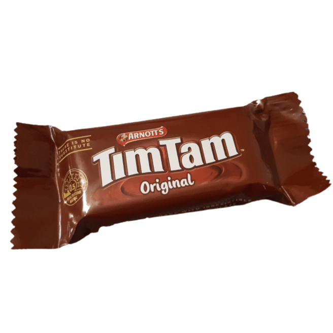 TimTam chocolate cookie from Australia on a white background. CCL applies. Please give credit.