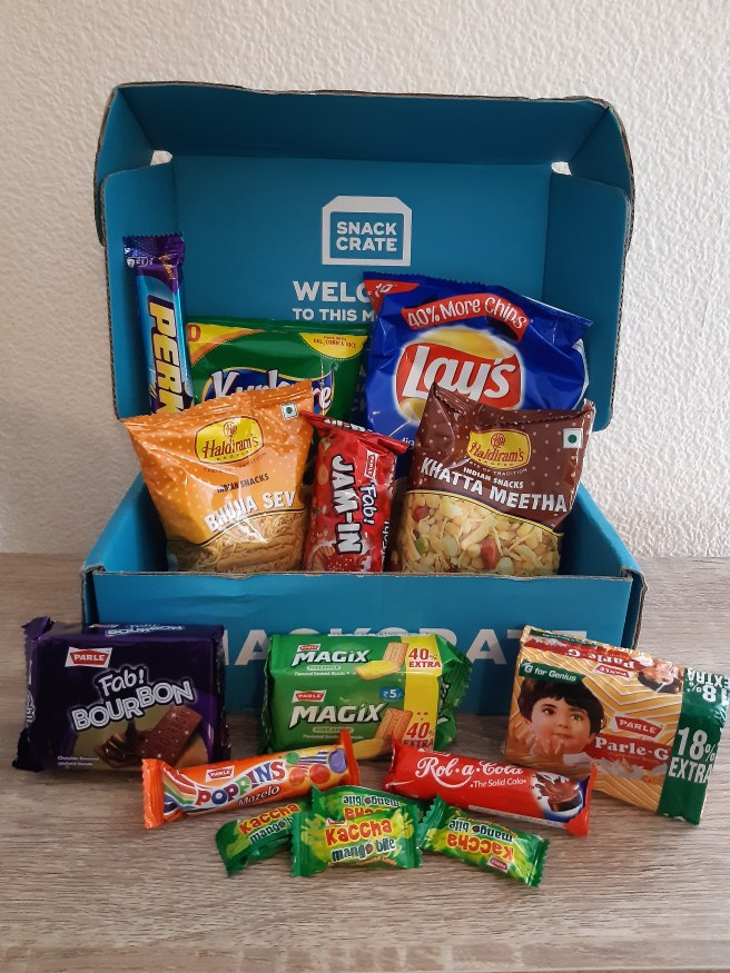 Image showing Indian snacks, sent by SnackCrate. CCL applies. Please give credit.