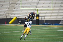 Jacob Hillyer makes a nice catch with Desmond King covering.