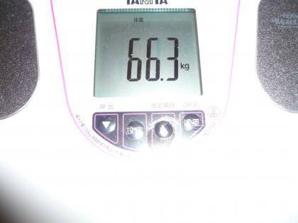 体重66.3キロの画像