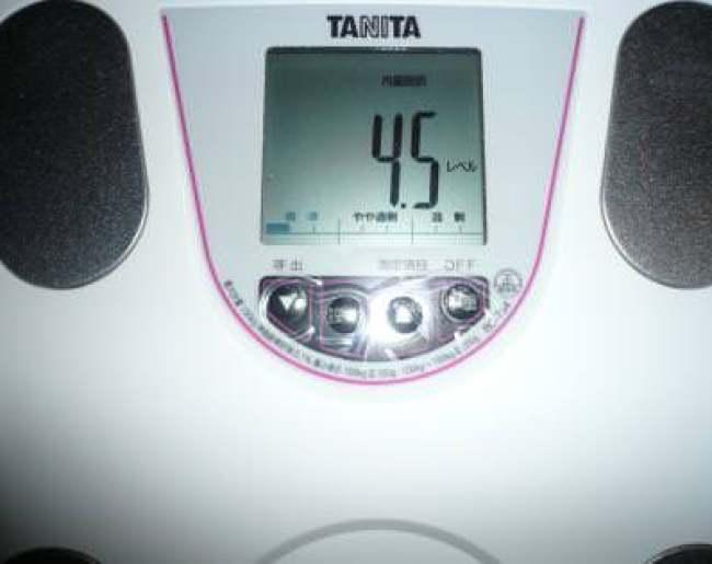 2ヶ月目終了の内臓脂肪率
