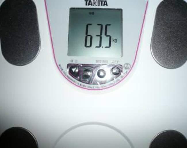 2ヶ月半目突入の体重