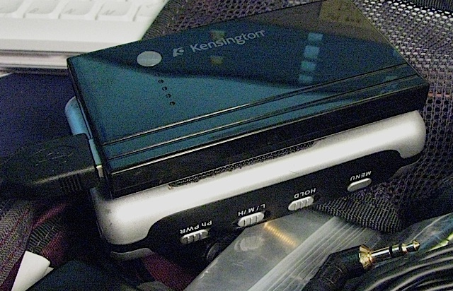 Kensington Portable Power Pack and M-Audio Microtrack