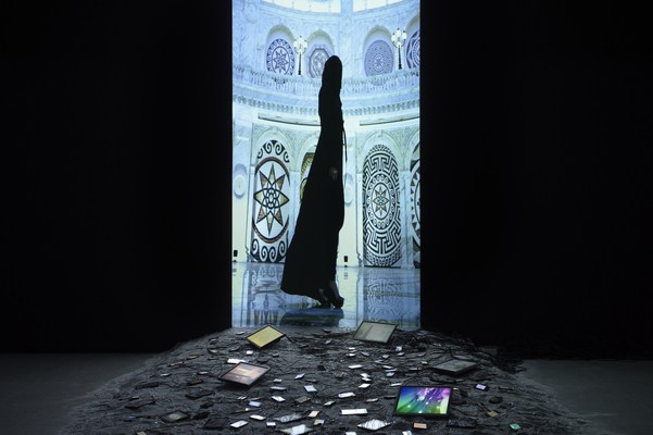 Installation view of Sophia Al-Maria: Black Friday