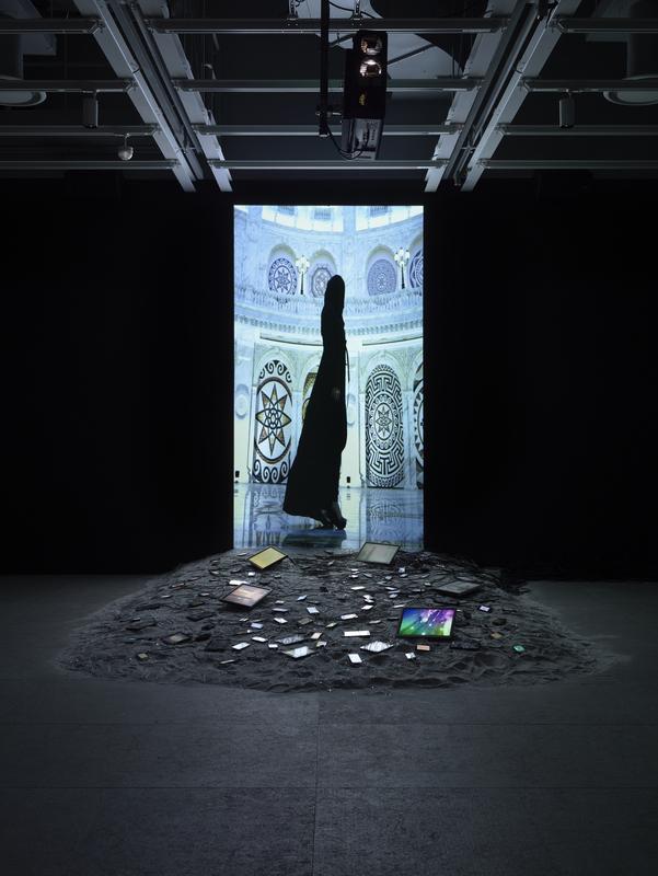 Installation view of Sophia Al-Maria: Black Friday