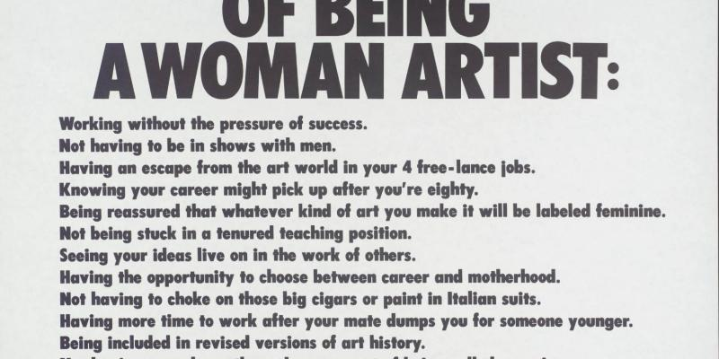 "Manifesto: The Advantages of Being A Woman Artist"" by Guerrilla Girls, 1989"